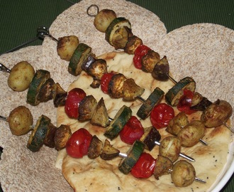 Curried Vegetable Kebabs with Naan or Chapatis