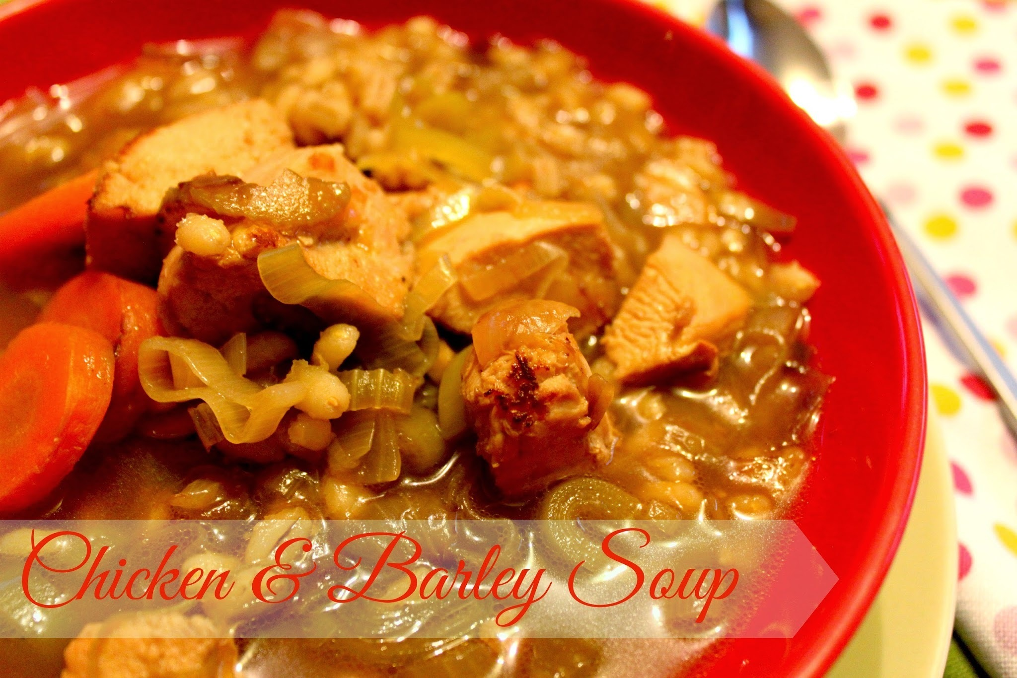 Chicken and Barley Soup - Low in calories high in protein | Kukskitchen