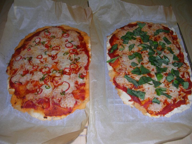 Very Tasty Vegan, Gluten Free and Yeast Free Pizzas