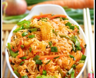 SCHEZWAN FRIED RICE RECIPE / VEG SCHEZWAN FRIED RICE