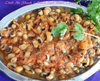 Chodi Nu Shaak /  Black Eyed Beans Curry