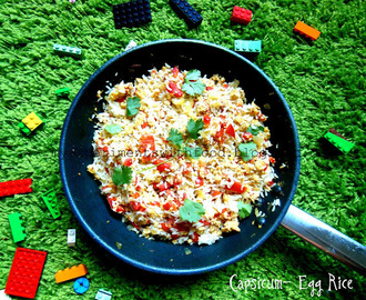 Capsicum- Egg Rice