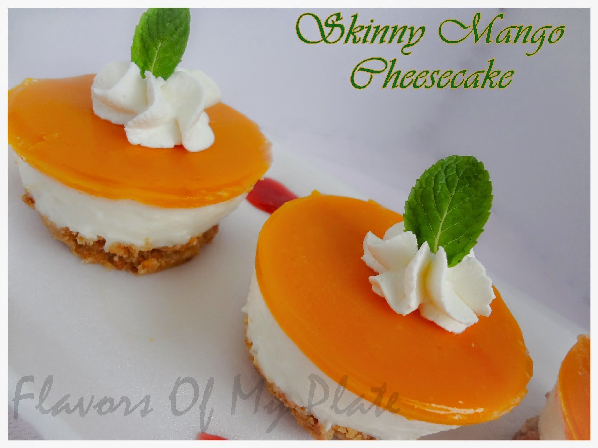 Skinny Mango Cheesecake.........A Cheesecake Without Cheese