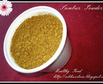 HOME MADE SAMBAR POWDER /  MASALA POWDER / SAMBAR PUDI