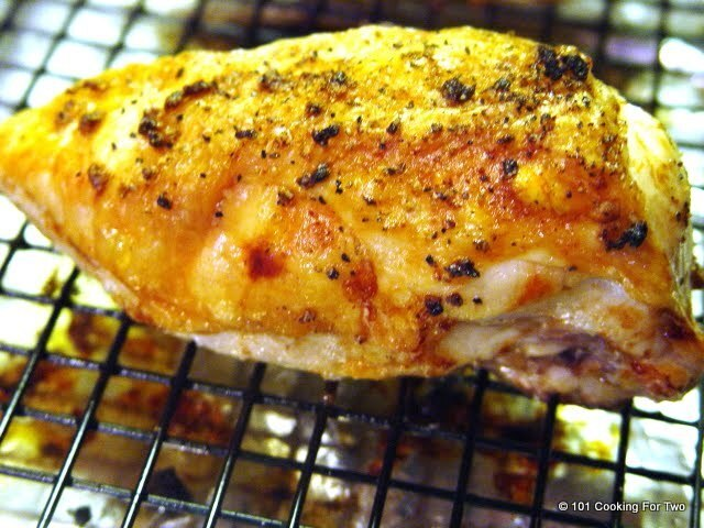 Butter and Garlic Stuffed Baked Split Chicken Breast