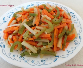CARROT, POTATO AND CAPSICUM STIR FRY