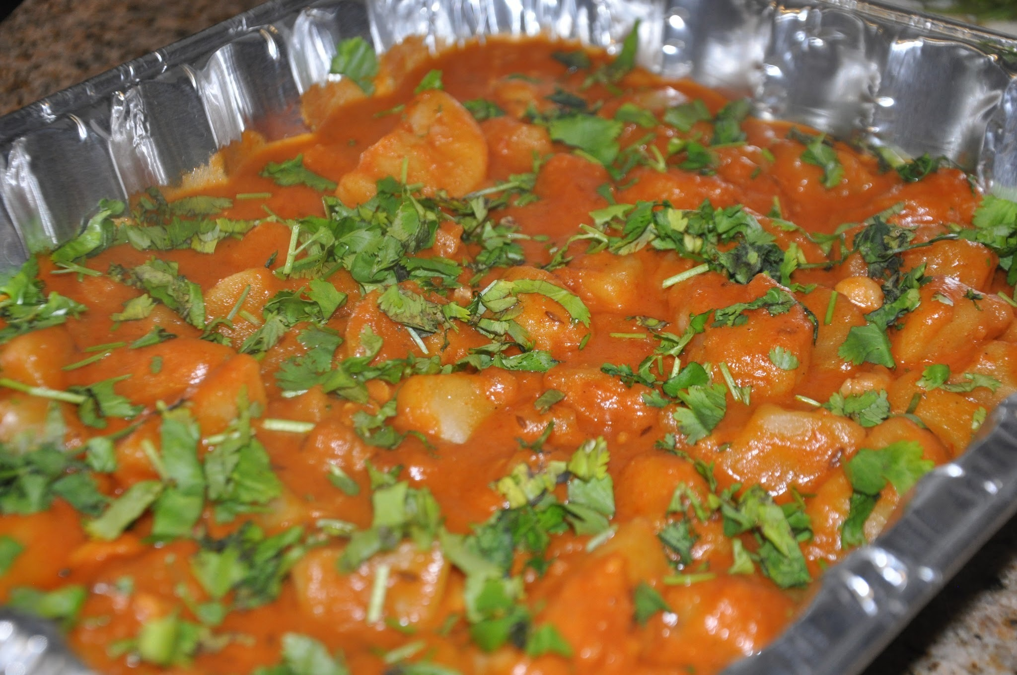 Nariyal aur Kaju ki Aloo Sabzi (Coconut Potato Curry with Cashews)