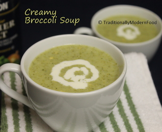 Creamy Broccoli Soup – Guest Post for Sujatha