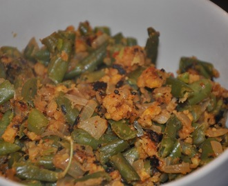 Beans Paruppu Usili (Green Beans and Chana Dal Curry) - for Blog Hop