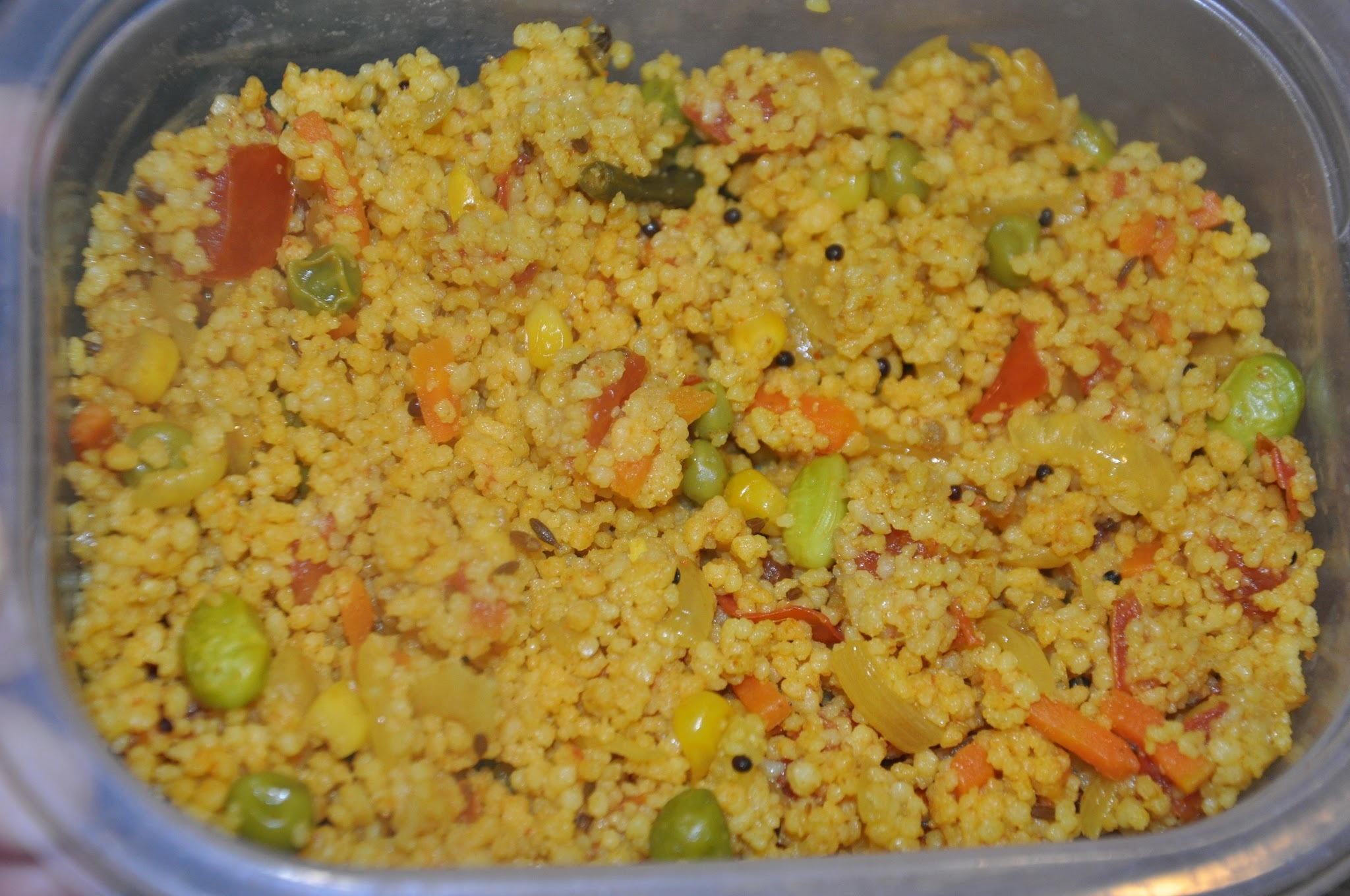 Curried Couscous - A jiffy, perfect and healthy dinner