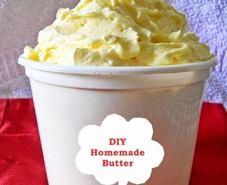 How To Make Butter At Home, Homemade Butter