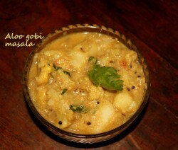 Potato cauliflower or aloo gobi curry recipe