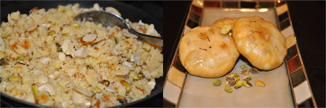 Mawa Kachori - मावा कचोरी (Stuffed and deep fried bread with reduced milk solids and nuts) - BM # 5