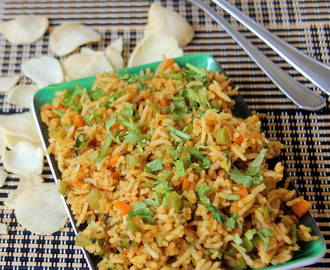 Tawa Vegetable pulav - tawa pulao - Simple and fast lunch box recipe - Simple rice recipe - Simple one pot meal