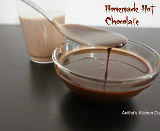 Hot chocolate using Homemade chocolate syrup