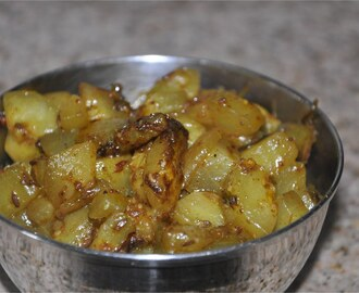 Kakdi Ki Sookhi Sabzi (English Cucumber Fry)
