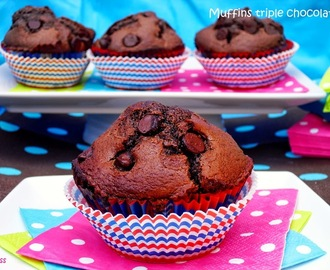 MUFFINS TRIPLE CHOCOLATE, mis favoritos!
