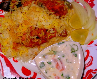 Chicken Dum Biryani – Guest post by Amrutha !