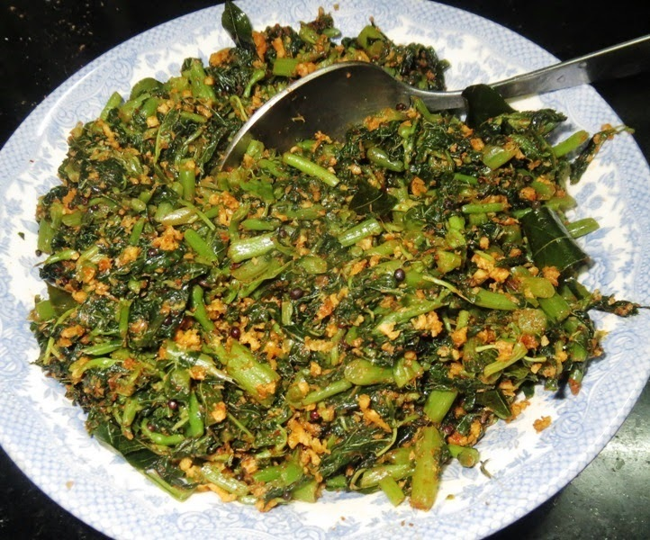 Harive Palya (Amaranth leaves dry curry)