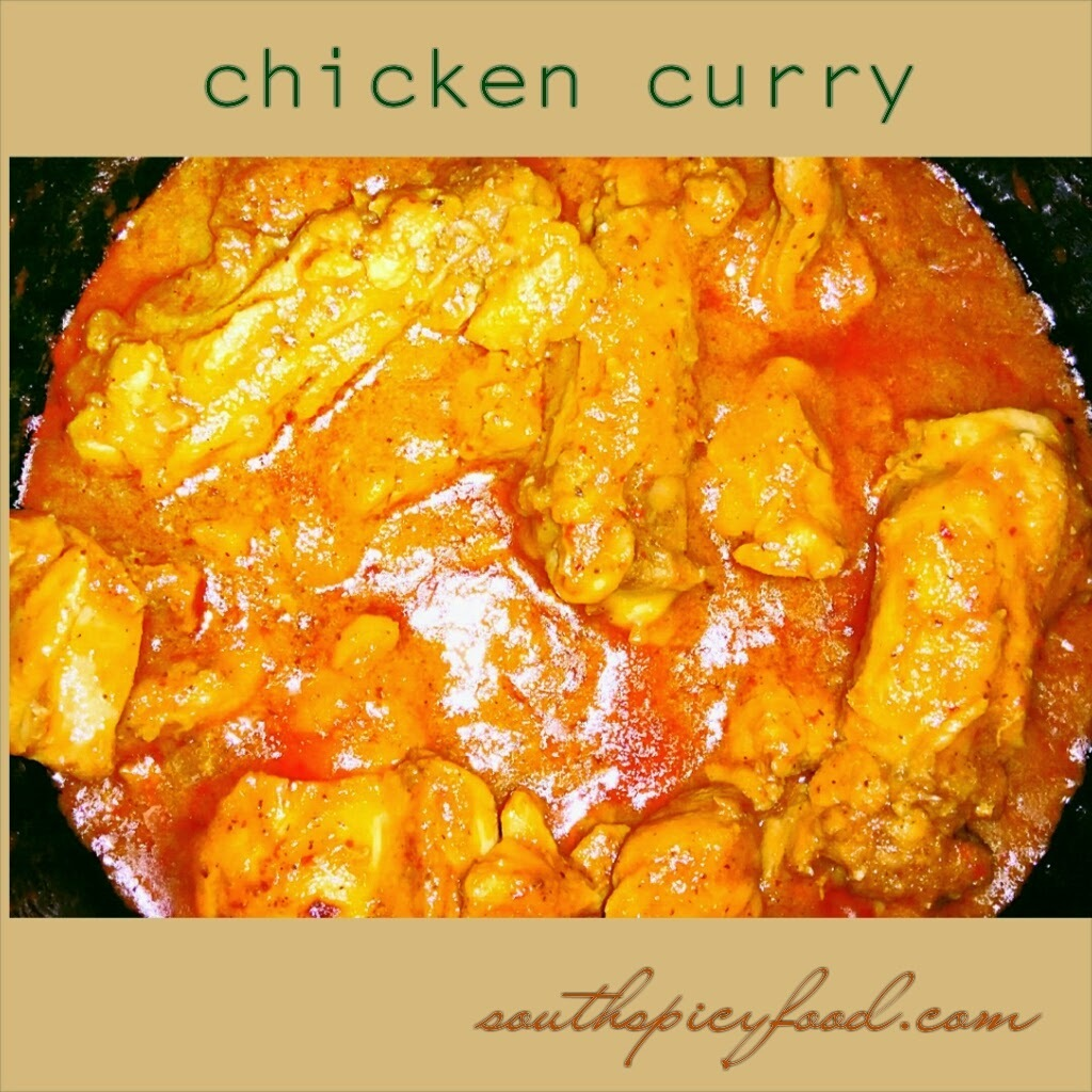 Spicy Chettinad style chicken curry