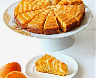 Carrot Orange Zebra Cake