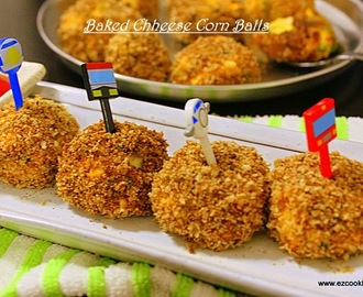 Baked Cheese Corn Balls