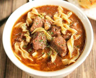 {Slow Cooker} Steak Soup