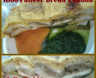 Aloo-Paneer Bread Pakoda | Stuffed Bread Pakora Recipe