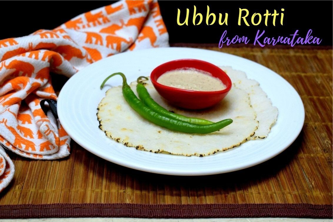 Ubbu Rotti | Leftover Rice Roti from Karnataka