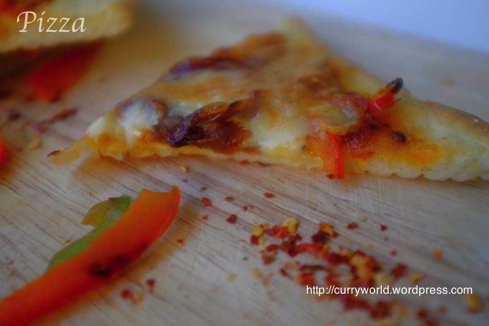 Pizza Vegetariana Thin Crust with home made Pizza Sauce