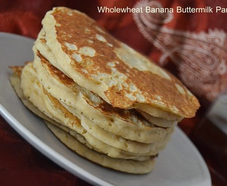Wholewheat Banana Buttermilk Pancakes
