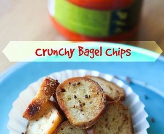 [Quick Snacks] Crunchy Bagel Chips Recipe