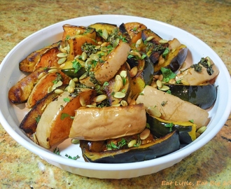Recipe for Roasted Squash with Mint and Toasted Pumpkin Seeds