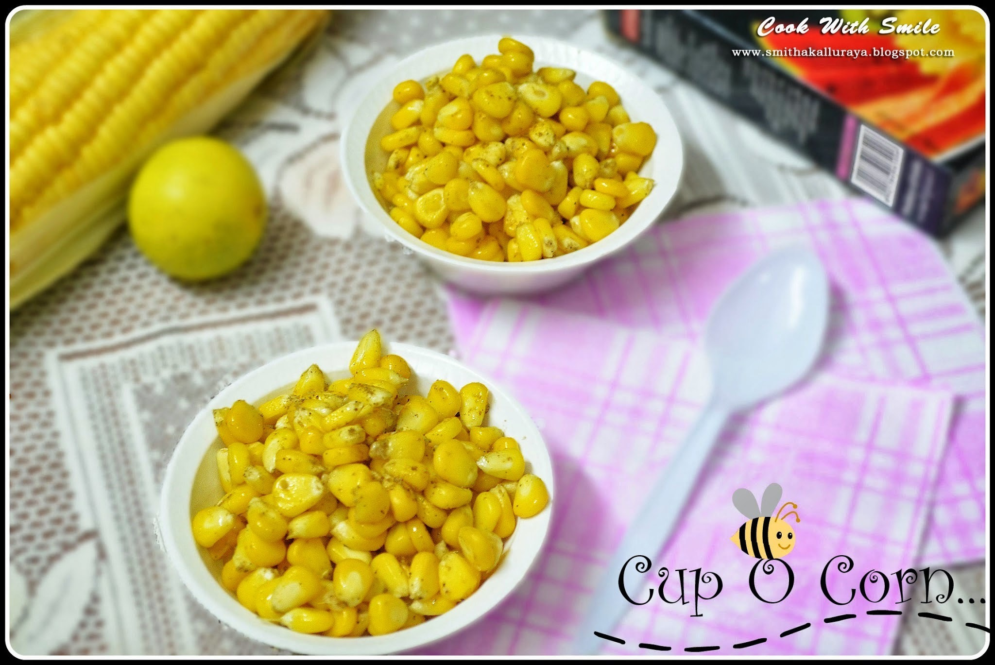 CUP CORN RECIPE / BUTTERED CUP CORN / MASALA CORN - AMERICAN SWEET CORN RECIPE..