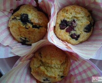Muffins de arandanos | ¡Exquisitos!