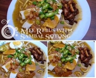 Mee Rebus with Sambal Sotong/Squid