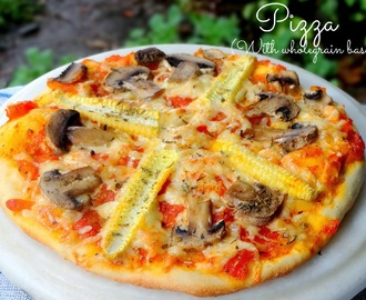 Pizza (with wholegrain base)