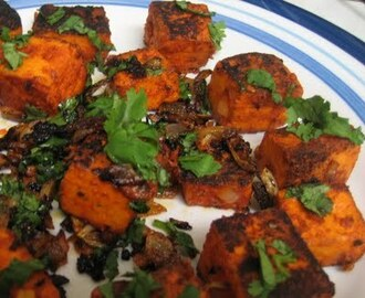Paneer Tikka (Microwave cooking)