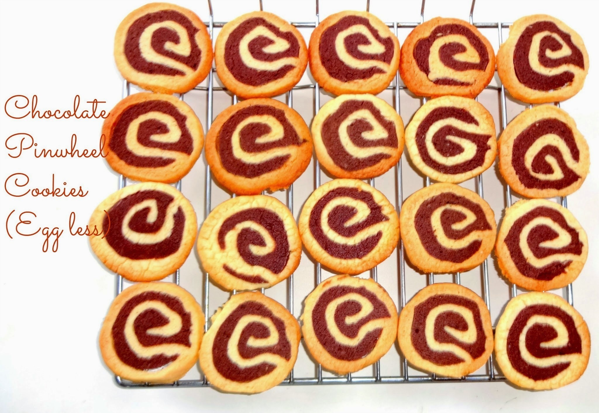 Chocolate Pinwheel Cookies (Egg less)