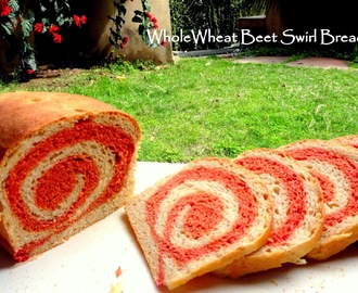 Whole Wheat Beet Swirl Bread (Vegan)