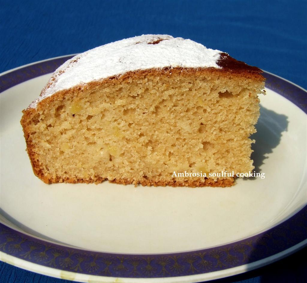 EGGLESS WHOLE WHEAT PINEAPPLE CAKE