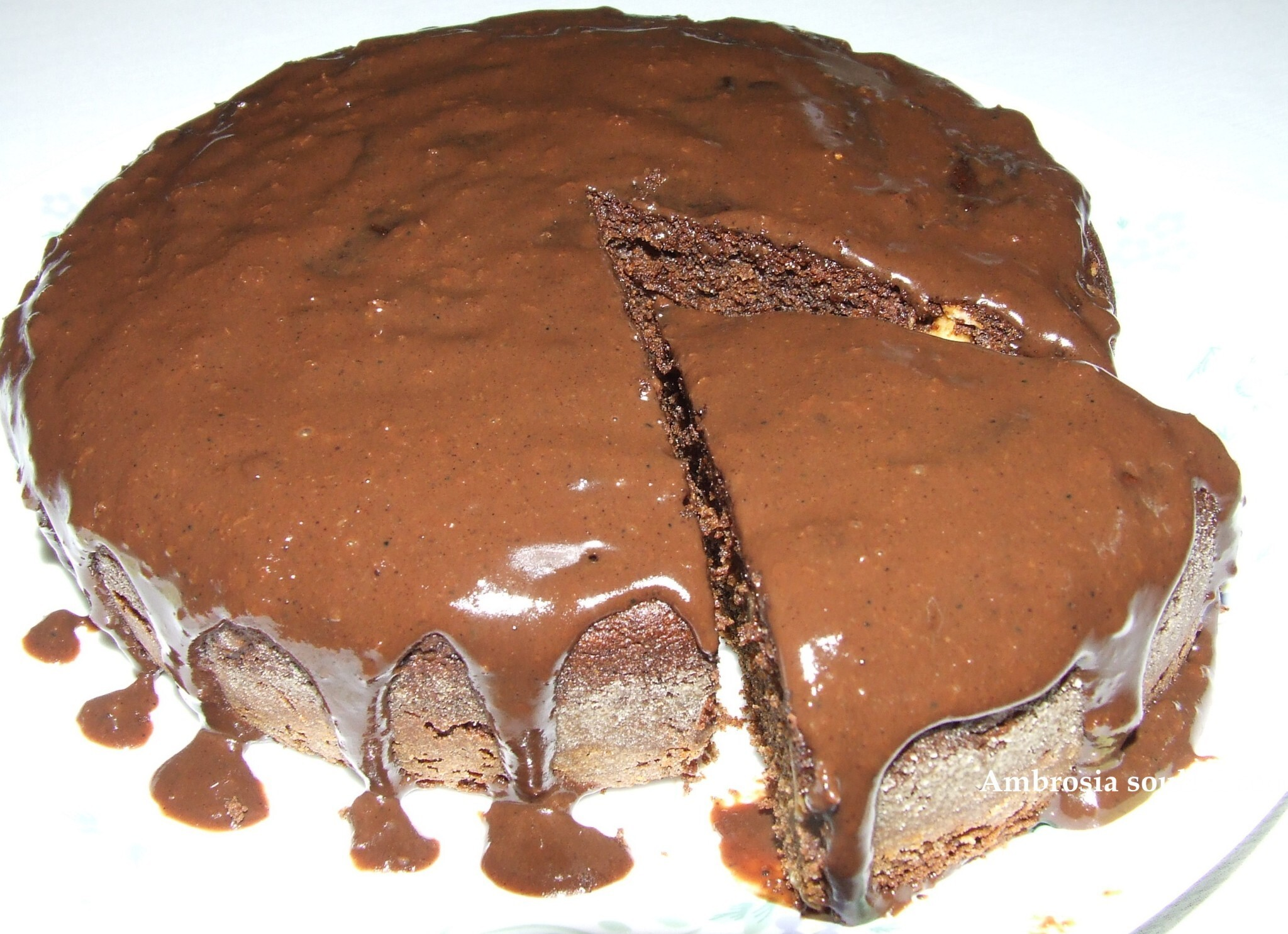 FINGER MILLET CHOCOLATE HONEY CAKE WITH CHOCOLATE SAUCE (WHOLE WHEAT AND EGG LESS)- DELICIOUSLY HEALTHY AND FILLING