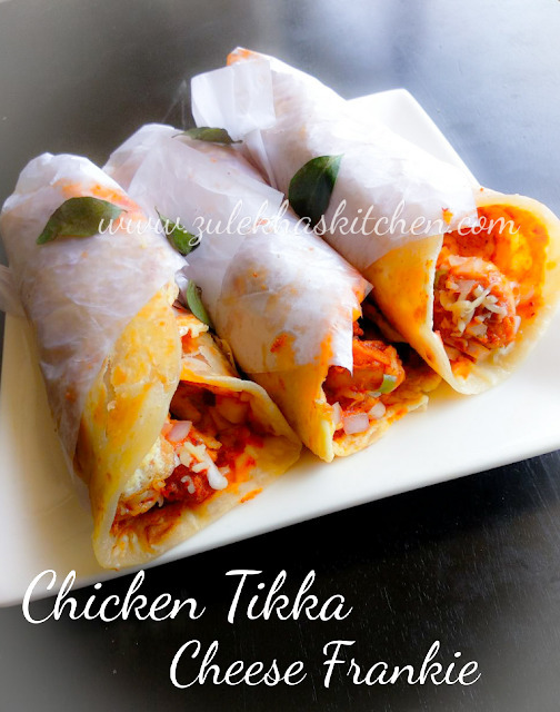 Recipe Of Chicken Tikka Cheese Frankie