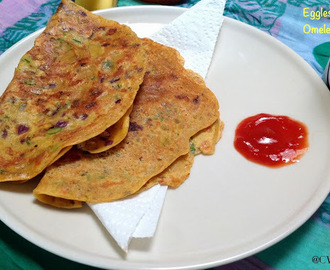 Indian Omelette ~ Without Eggs