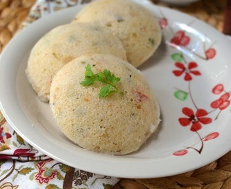 Masala Vegetable Idli (Idli with a twist)