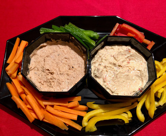 Duo of healthy dip sauces