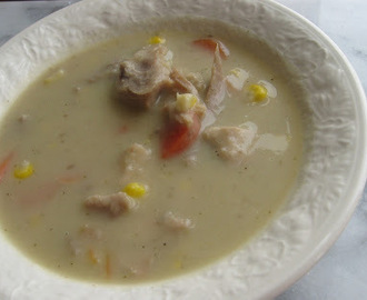 Creamy Smoked Turkey and Apple Soup