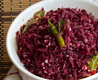 Beetroot Poriyal | Beet stir fry