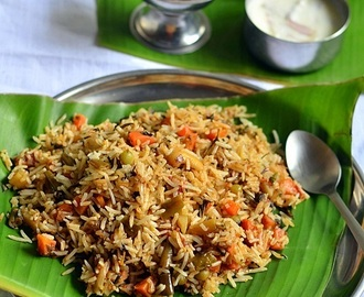Kerala Veg Biryani Recipe-Malabar Biryani-Sunday Lunch Recipes 5