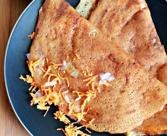Carrot And Onion Dosa, Crepes